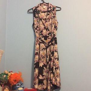 | Bar III Floral Print Midi Dress |